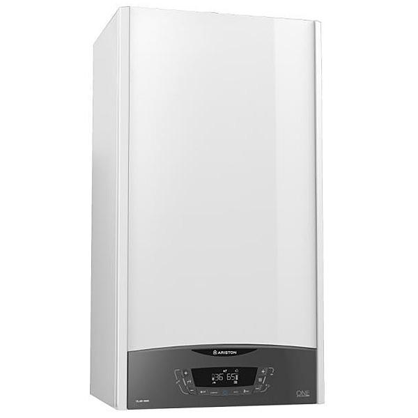 ariston-caldaia-a-condensazione-clas-one-24-kw-eu--3301021-bianco-con-kit-fumi-coassiale-sdoppiato-display