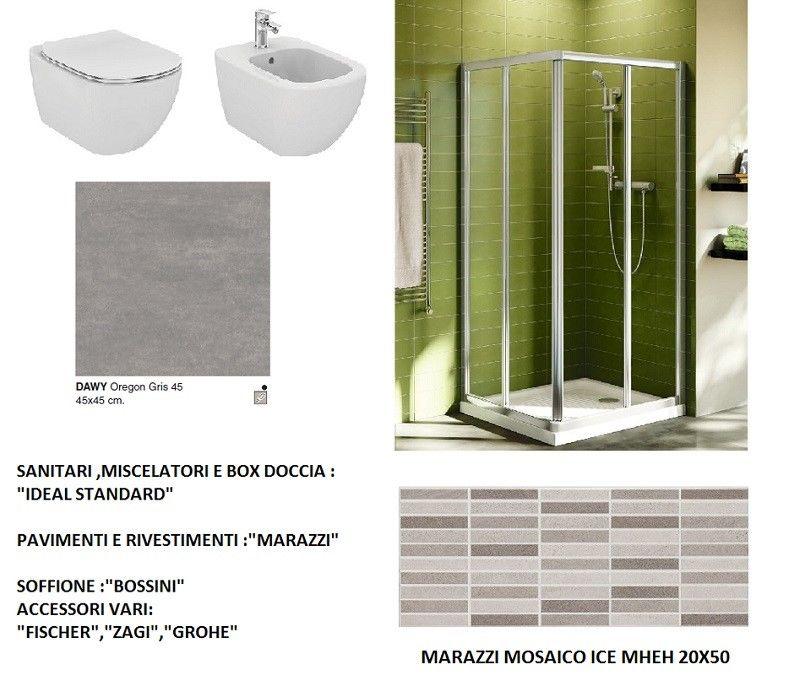 Accessori Arredo Bagno.Ideal Standard Marazzi Bossini Grohe Sanitari Box Doccia Pavimento Rivestimento Accessori Arredo Bagno Completo Mq 3x2