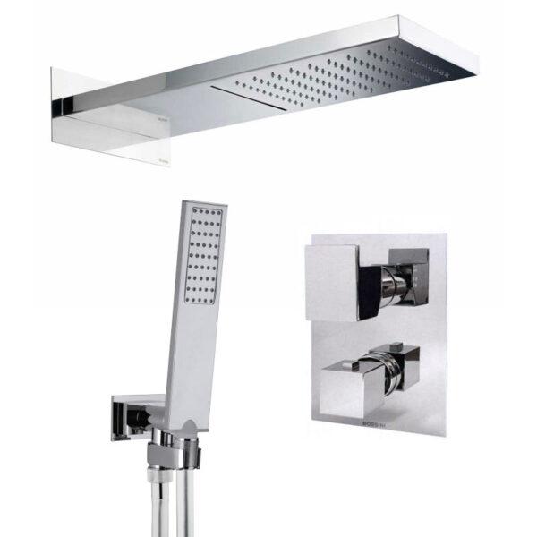 bossini-soffione-cascata-manhattan-2-con-doccetta-flat-one-e-miscelatore-termostatico
