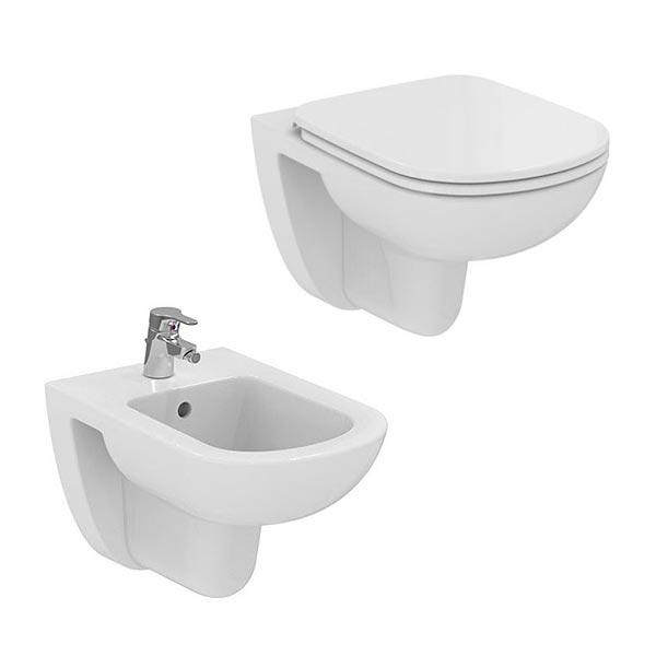 ideal-standard-sanitari-sospesi-vaso-wc-sedile-e-bidet-serie-dolomite-gemma-2-arredo-bagno