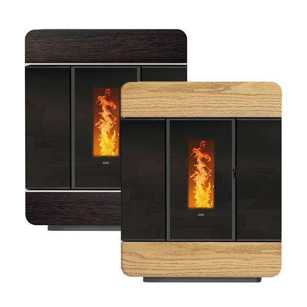 klover-stufa-termostufa-pellet-kw-18,40-idro-riscaldamento-diva-slim-wood-colore-rovere-wengè