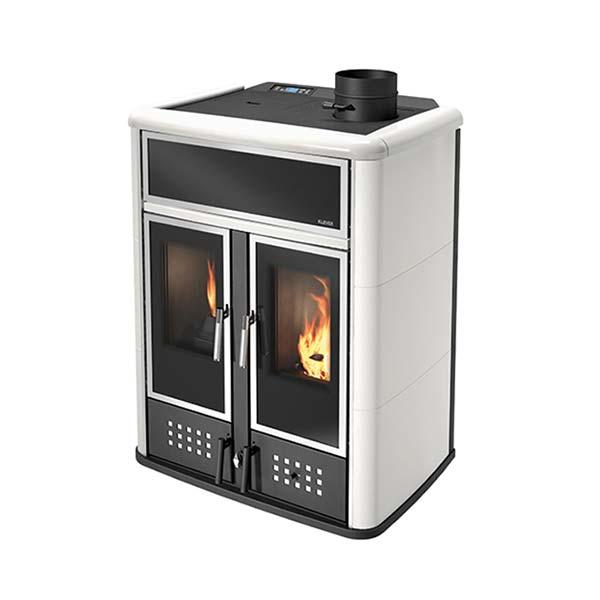 klover-stufa-termostufa-pellet-legna-kw-28-solo-riscaldamento-dual-colore-avorio-conto-termico