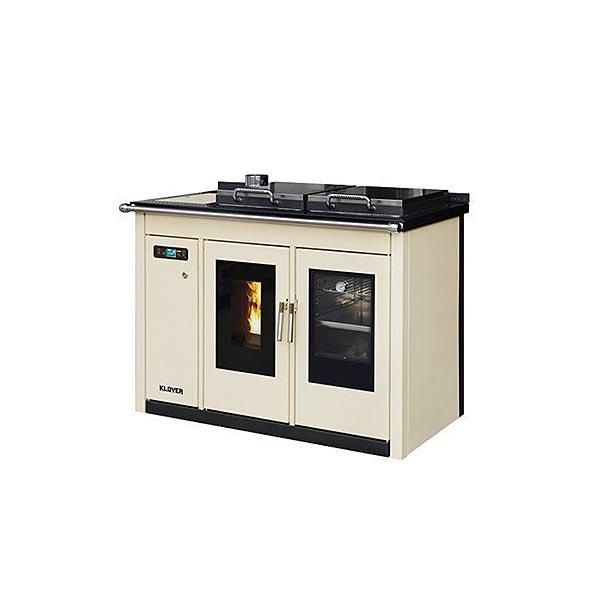 klover-termocucina-pellet-kw-22,6-riscaldamento-acqua-sanitaria-smart-120-bt-colore-crema