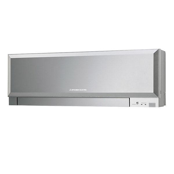 telecomando bianco mitsubishi electric condizionatore climatizzatore inverter 9000 btu classe a++ kirigamine zen r32 msz ef25vgs aria calda fredda colore silver argento