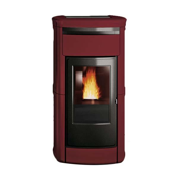 edilkamin-termostufa-stufa-a-pellet-idro-riscaldamento-kira-h-ekleaner-kw-22,5-ceramica-bordeuax-frontale
