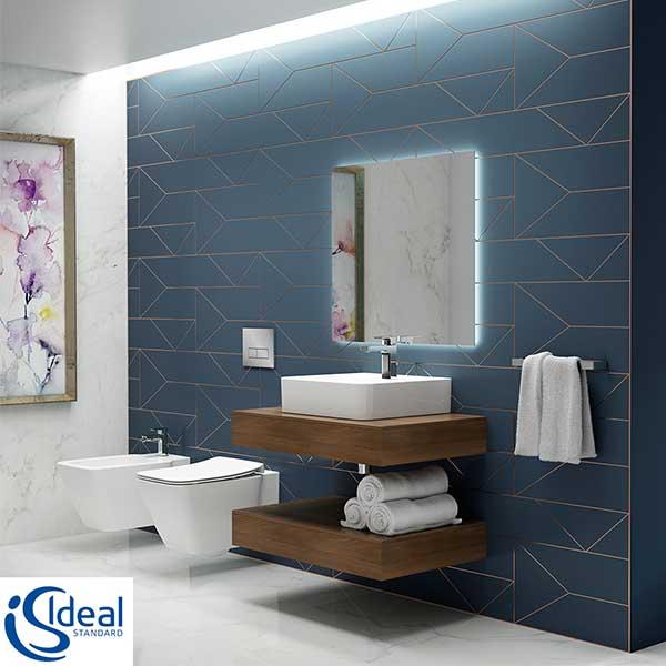 ideal-standard--collezione-strada-ii-sanitari-sospesi-fissaggi-nascosti--vaso-wc-tecnologia-aquablade-+-sedile-slim-a-chiusura-rallentata-+-bidet-monoforo-arredo-zona-bagno