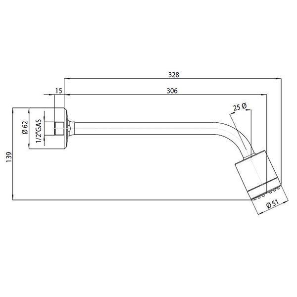 bossini-frizza-soffione-con-braccio-doccia-ø-51-mm-1-getto-braccio-300-mm-sistema-easy-clean-dimensioni