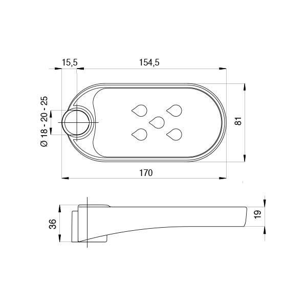 bossini-porta-sapone-ovale-in-acrilico-con-adattatori-per-aste-da-ø-18-20-25-mm-dimensioni