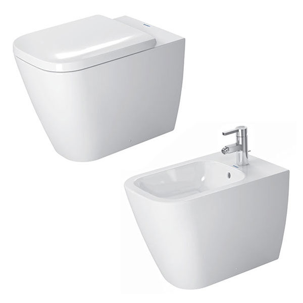 duravit-sanitari-a-pavimento-filo-parete-happy-d.2-vaso-wc-+-sedile-rallentato-+-bidet-monoforo