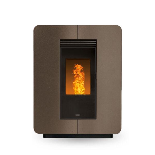 klover-stufa-a-pellet-ventilata-slim-astra-air-steel-8,9-kw-wifi-integrato-classe-a+-colore-bronze